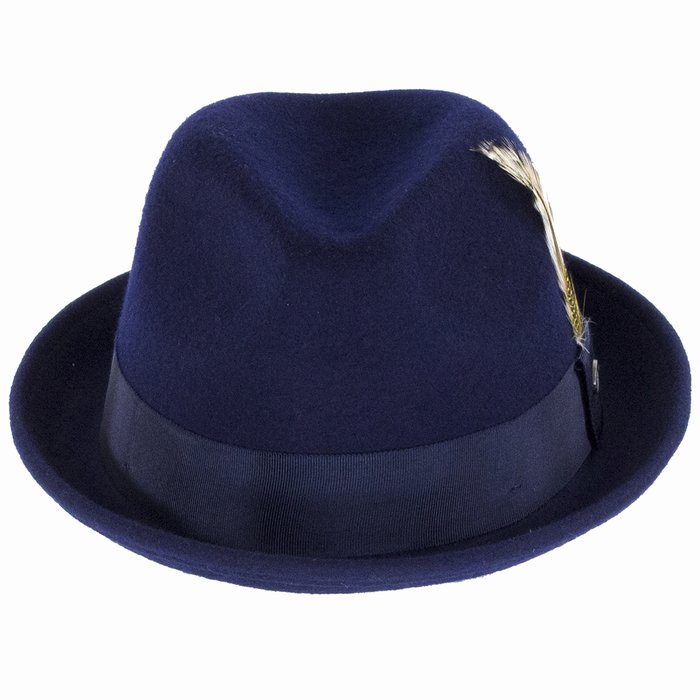 47c1ee209 Bailey Hats Cloyd Trilby Hat - Navy | The Hat Place