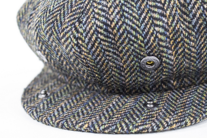 e68eaca1b3fed Bailey Hats Galvin Bakerboy - Black Herringbone