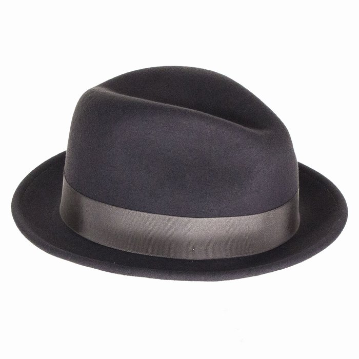 240f89148cc090 Bailey Hats Tino Crushable Trilby - Basalt | The Hat Place