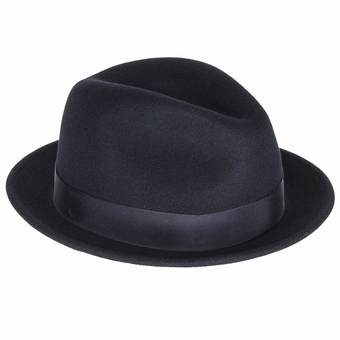 f3b72969 Bailey Hats Tino Crushable Trilby - Black | The Hat Place