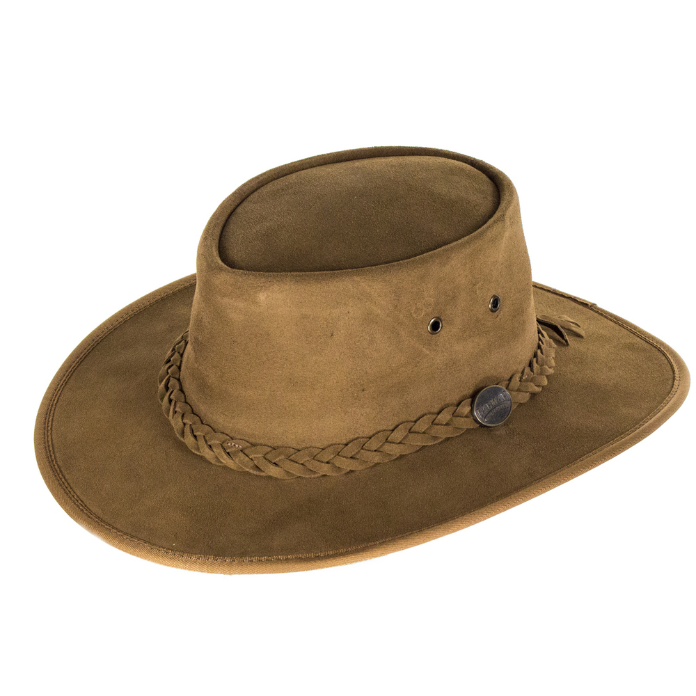 Barmah Hats Suede Outback Hat - Hickory  6b0b9a73c7e
