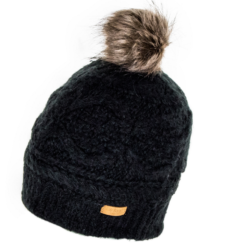 5a507f2b15b Barts Antonia Faux Fur Bobble Hat - Black