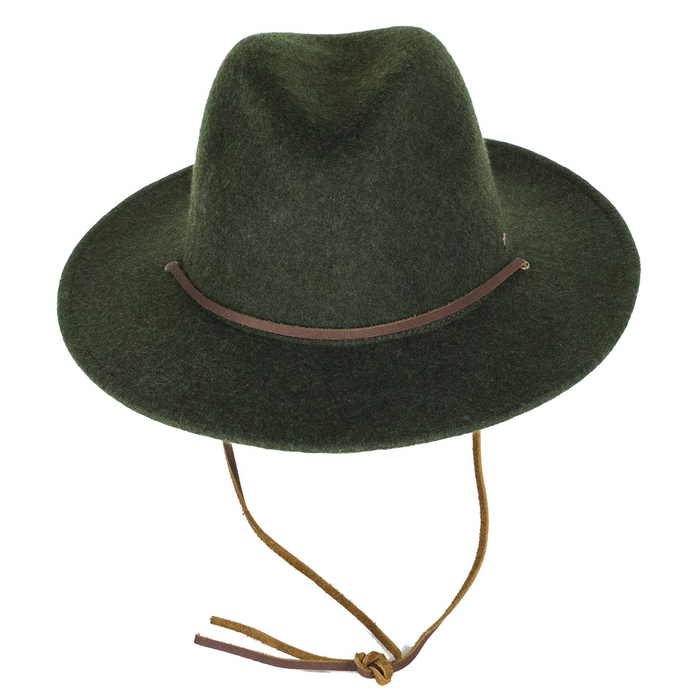 Brixton Field Felt Fedora Hat - Heather Green  5cfba55f0a9