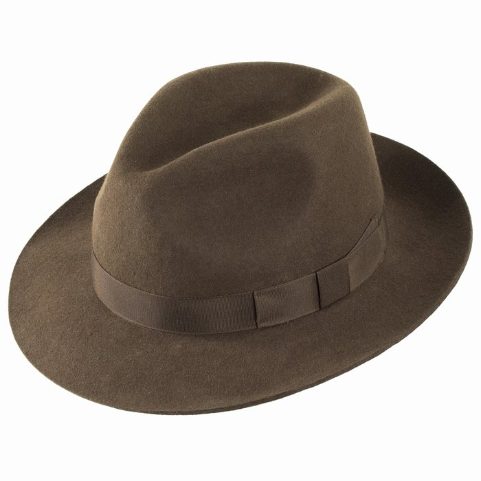 Christys  Hats Chepstow Wool Felt Trilby - Brown  dc29f31f1a9