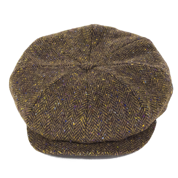 City Sport Caps Donegal Tweed Bakerboy Brown The Hat Place
