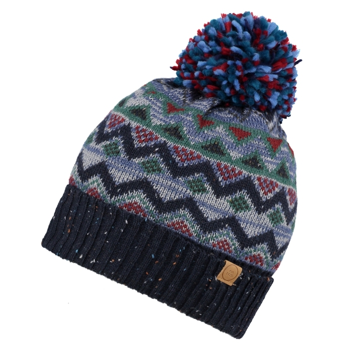 Men s Cooper Fairisle Beanie Hat with Bobble 7e57e1a2833