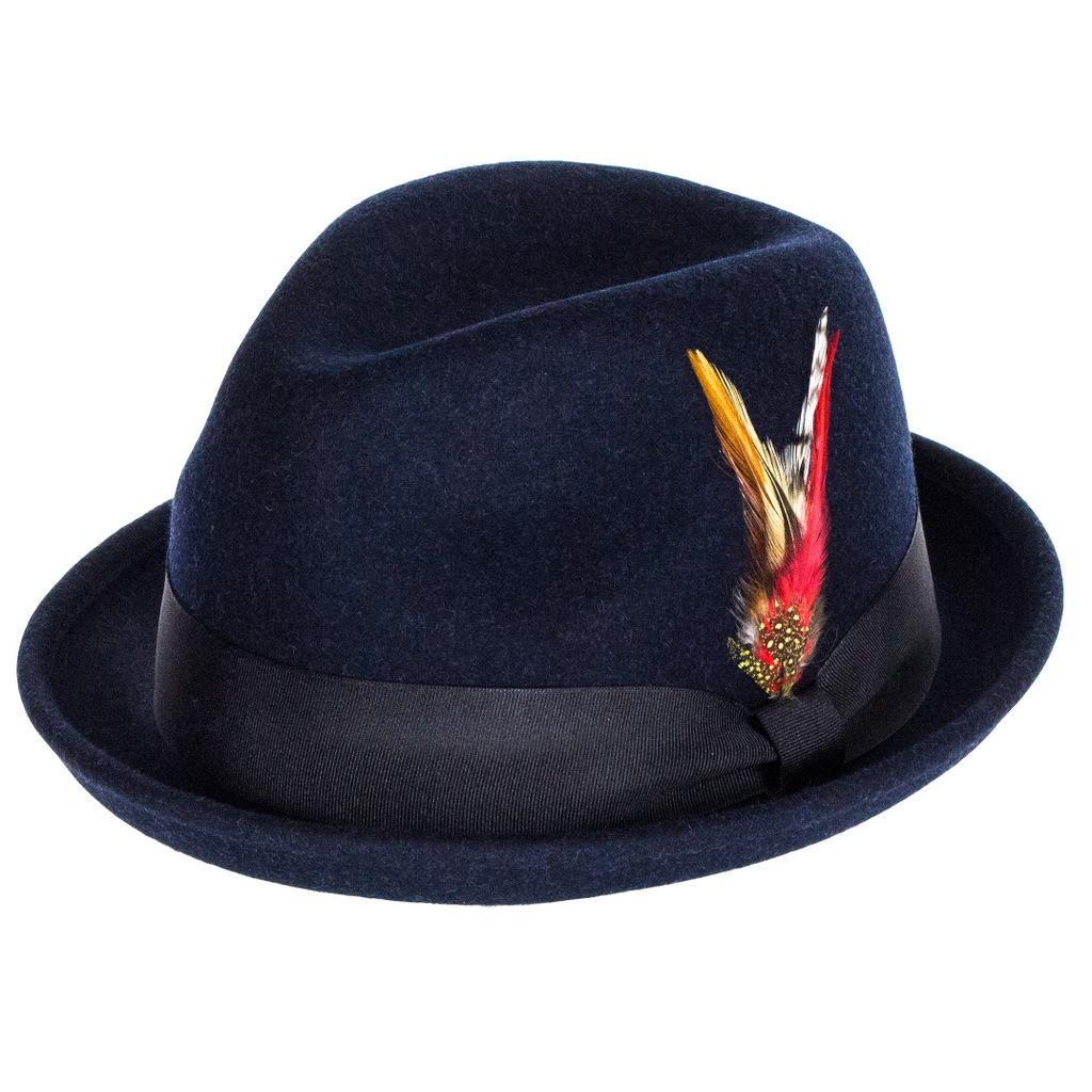 Failsworth Hats Brooklyn Trilby Hat - Navy 75425888ca5