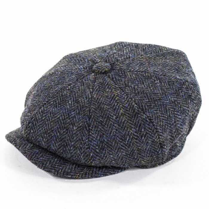 efc2d37de52 Failsworth Hats Harris Tweed Bakerboy - Blue
