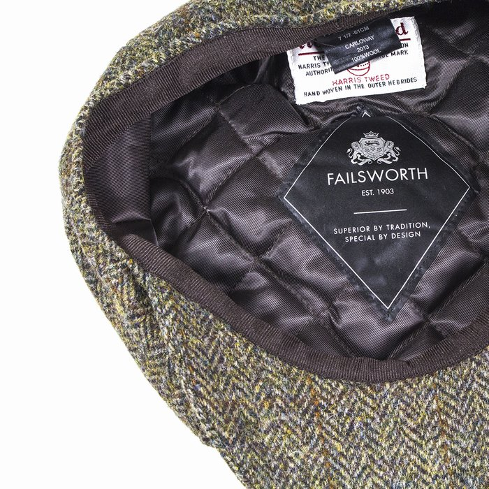 d0df75a586a Failsworth Hats Harris Tweed Bakerboy - Brown
