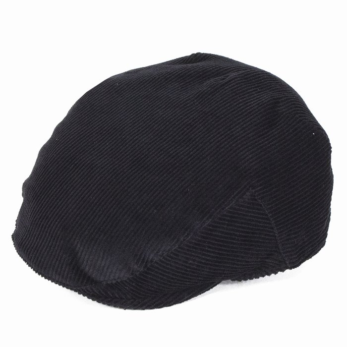 c05a7f2c49a Failsworth Hats Concord Cord Flat Cap - Black