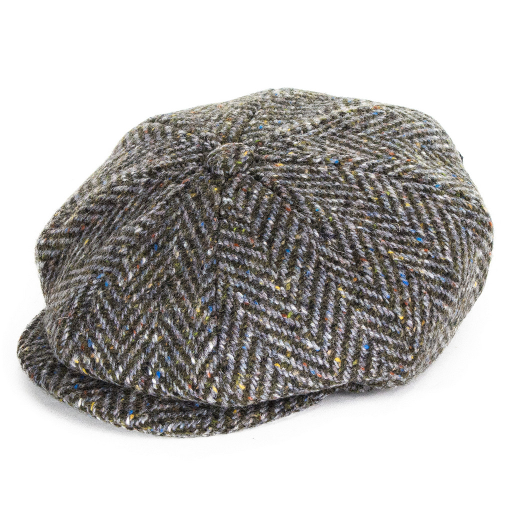 Failsworth Hats Donegal Tweed Mayo Bakerboy Cap - Brown Mix 7541b69ae5af
