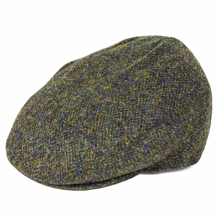 c897c4eb563 Failsworth Hats Stornoway Harris Tweed Flat Cap - Green Mix