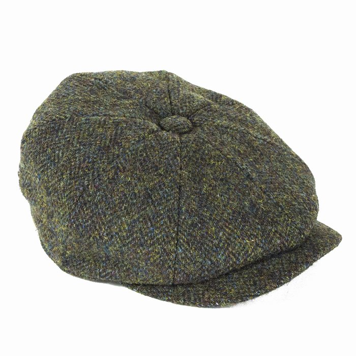 354a14c0883 Failsworth Hats Harris Tweed Bakerboy - Green