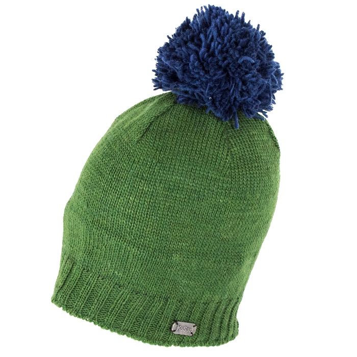 b284f503565ddc Kusan Slouch Beanie Hat with Pom - Green   The Hat Place