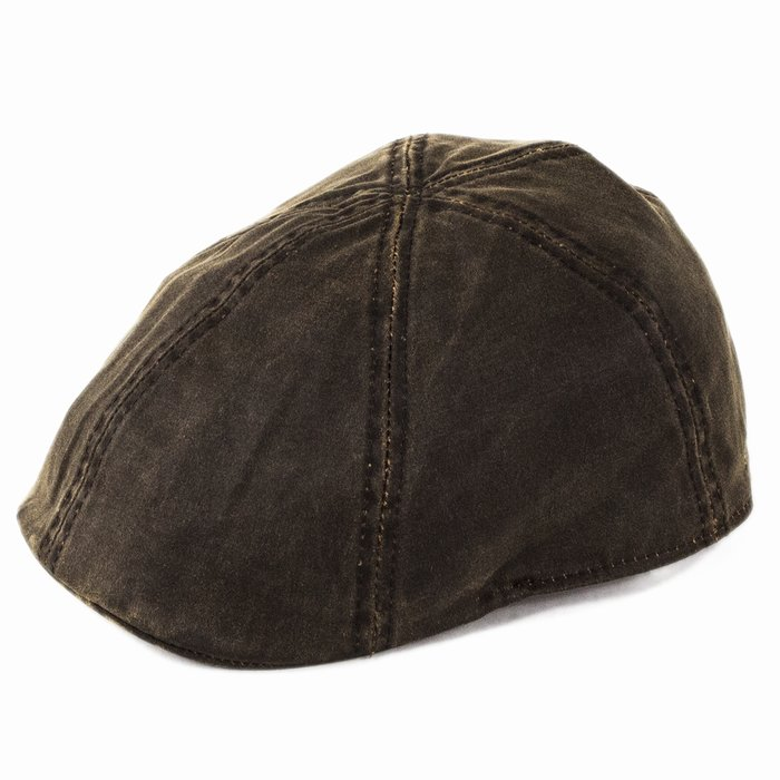 aeeb424f7890a4 Stetson Hats Level Duckbill Flat Cap - Brown | The Hat Place