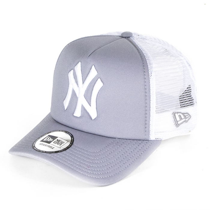 white new era trucker cap
