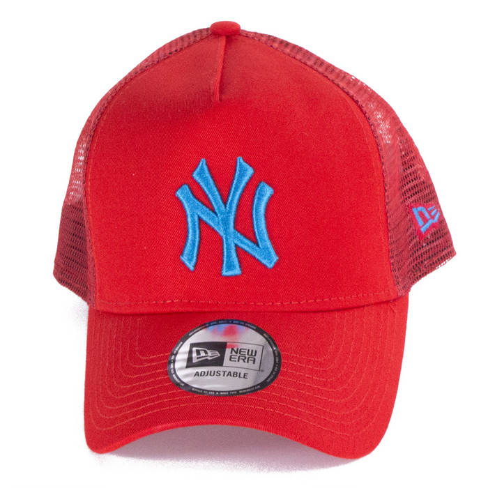 66f52838e63 New Era 9Forty League Essential NY Yankees Trucker - Red Blue