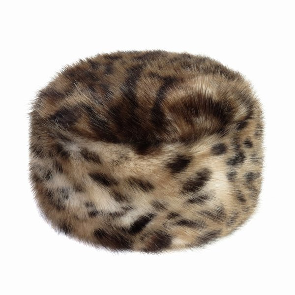 Helen Moore Faux Fur Pillbox Hat - Ocelot  a9665555bcab