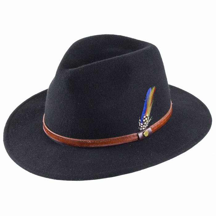 c56c99d1d995e6 Stetson Hats Rantoul Fedora - Black | The Hat Place