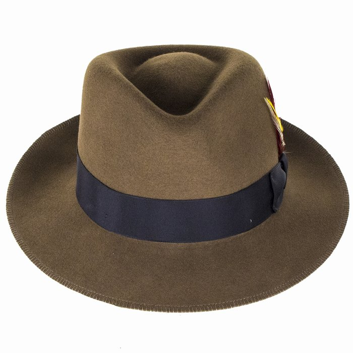 Stetson Hats Atlanta Vita-Felt Fedora - Brown  4d35470cd81