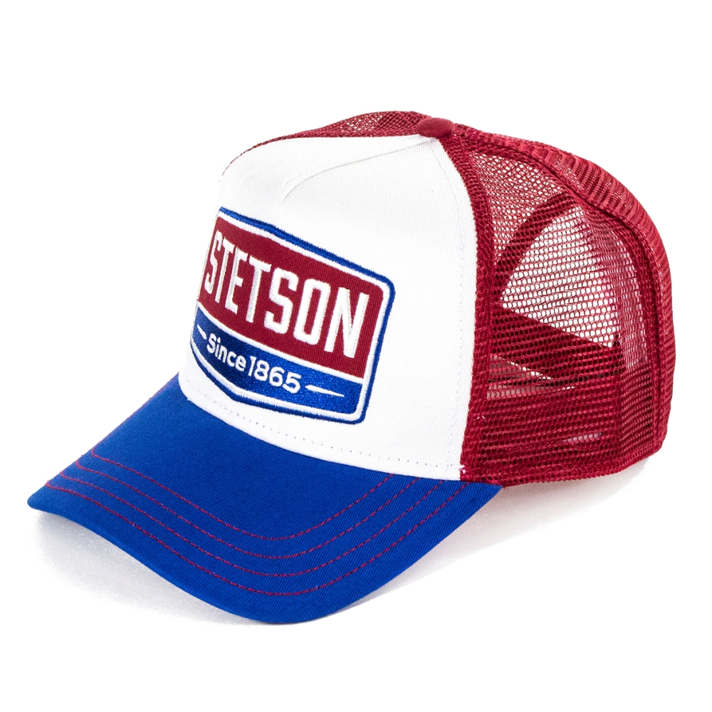 Stetson Hats Gasoline Trucker Cap - Red  e894c4f6314