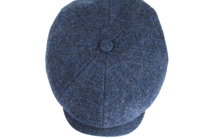 3731edc6 Stetson Hats Hatteras Bakerboy - Blue | The Hat Place
