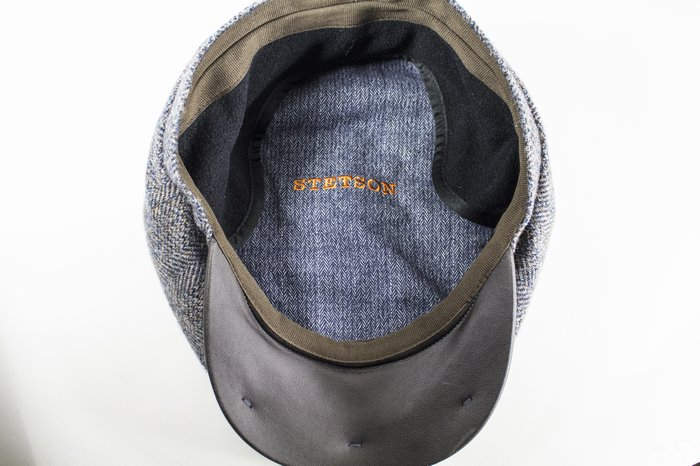 46e555c1a Stetson Hats Virgin Wool Earflap Bakerboy - Grey | The Hat Place