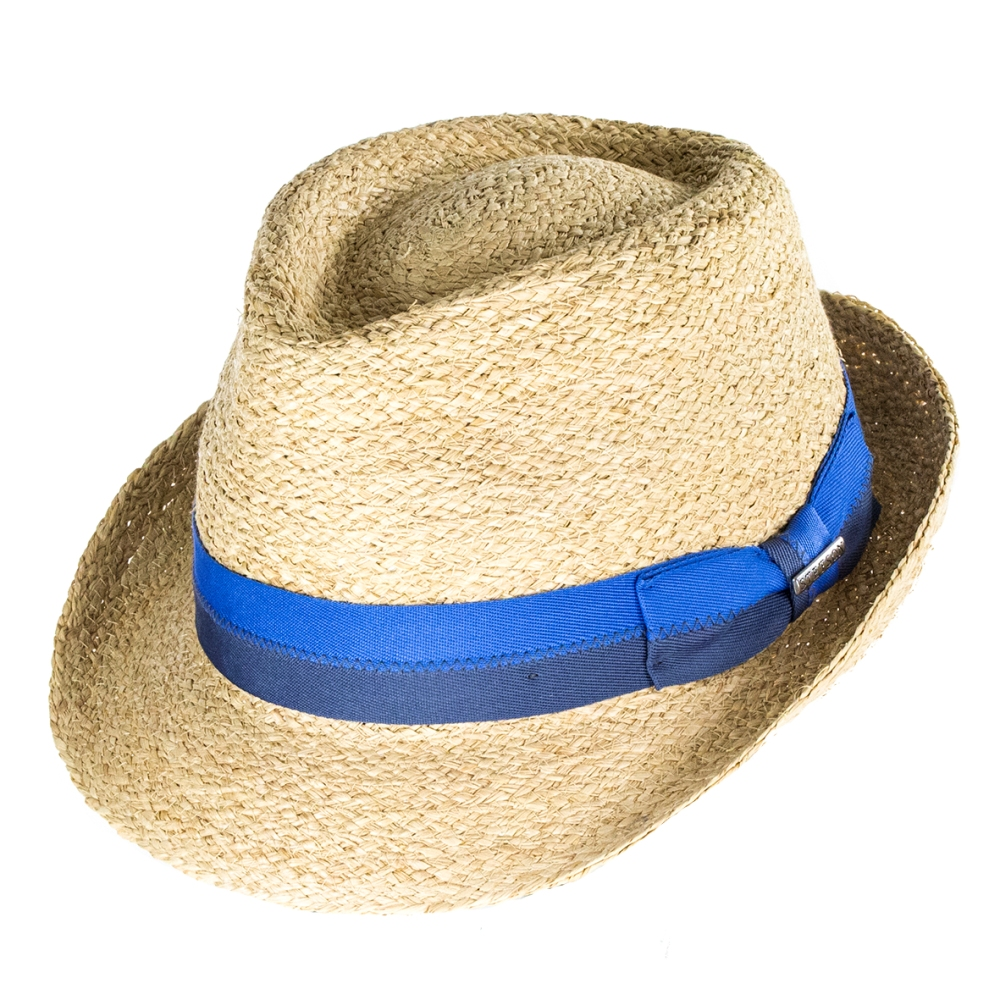 5eac0908 Stetson Hats Largo Raffia Straw Trilby - Natural | The Hat Place