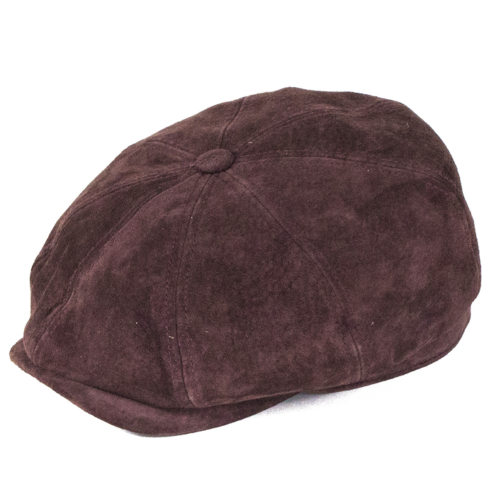 1778a07c1da4a9 Stetson Hats Leather Bakerboy - Burgundy | The Hat Place