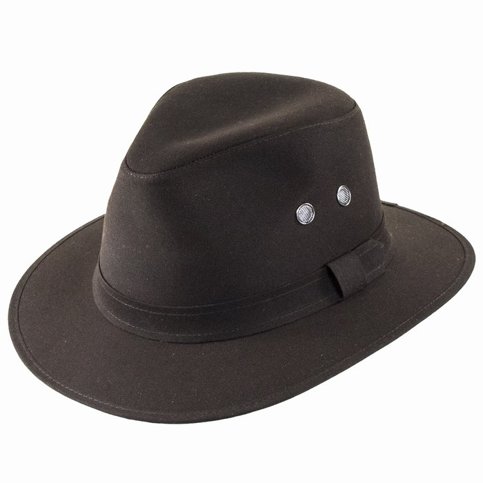 044b49ce81246 Failsworth Hats Cotton Wax Drifter Fedora - Brown