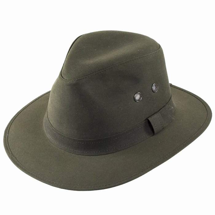 Failsworth Hats Cotton Wax Drifter Fedora - Olive 3b27179cbd5